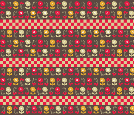 40s Inspired Retro Kitchen 2 fabric by owlandchickadee on Spoonflower - custom fabric