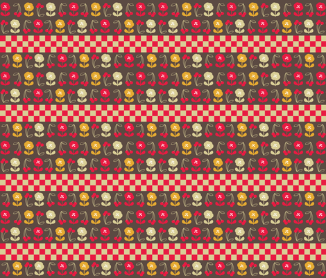 retro-kitchen-40s-4 fabric by owlandchickadee on Spoonflower - custom fabric
