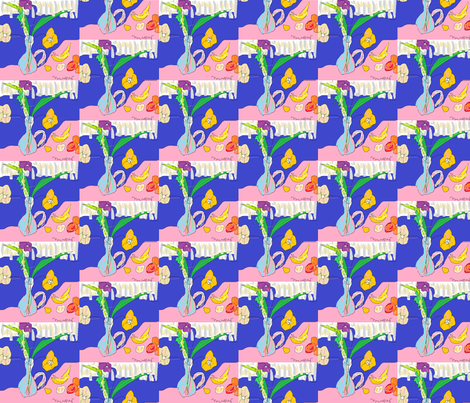 Fruit and Poppies fabric by marcea on Spoonflower - custom fabric