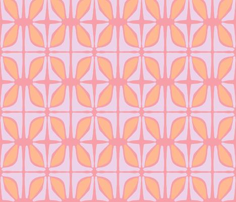 Petals (salmon, lilac & tangerine) fabric by pattyryboltdesigns on Spoonflower - custom fabric