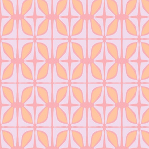Petals (salmon, lilac & tangerine)