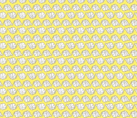 Pufferfish! (sunshine & grey) fabric by pattyryboltdesigns on Spoonflower - custom fabric
