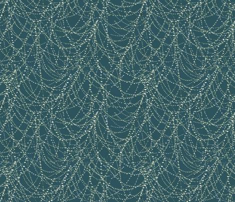 spider web with morning dew fabric by kociara on Spoonflower - custom fabric