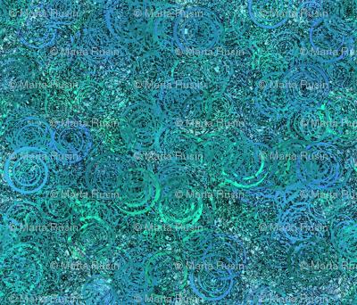 swirly pattern teal
