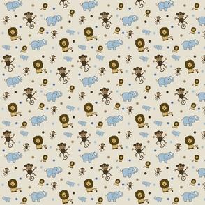 Jaxon's quilt, Monkey, Lion, Elephant
