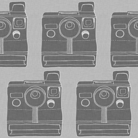 polaroid - grey fabric by maker_maker on Spoonflower - custom fabric
