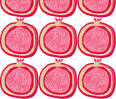 pomegranate fabric by maker_maker on Spoonflower - custom fabric