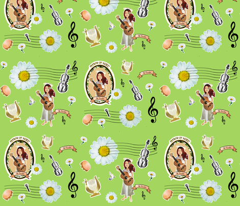 St Cecilia Play for Us fabric by magneticcatholic on Spoonflower - custom fabric