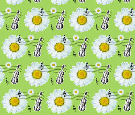 st cecilia's violin fabric by magneticcatholic on Spoonflower - custom fabric
