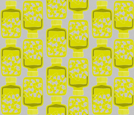 pillBottle4_150 fabric by maker_maker on Spoonflower - custom fabric