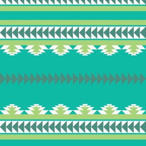 aztec stripes teal