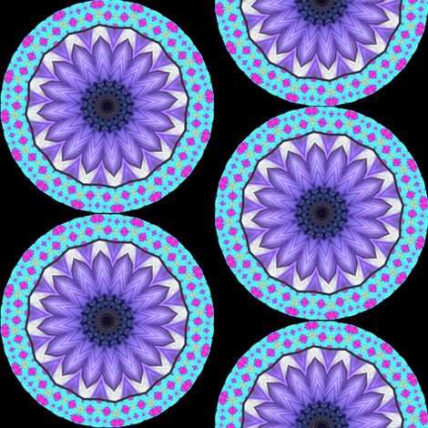 Flower Power 9 Mandala fabric by dovetail_designs on Spoonflower - custom fabric