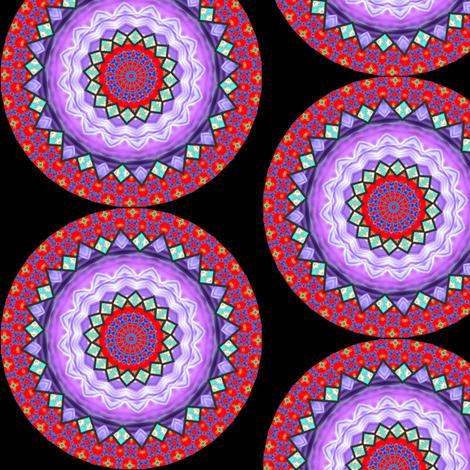 Flower Power 11 Mandala fabric by dovetail_designs on Spoonflower - custom fabric