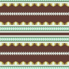 aztec stripes brown olive & green