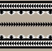 aztec stripes - black & gray