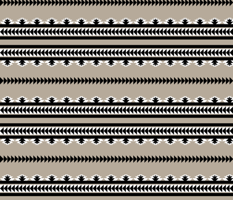 aztec stripes - black & gray fabric by ravynka on Spoonflower - custom fabric