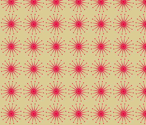 Starspangle (Pink on Beige) fabric by bippidiiboppidii on Spoonflower - custom fabric