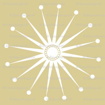 Starspangle (White on Beige)