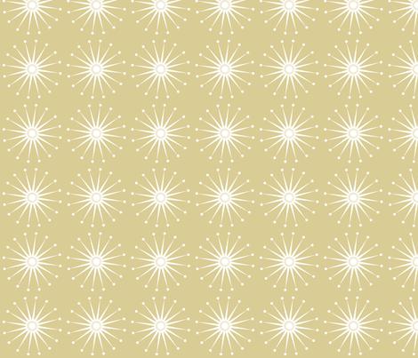 Starspangle (White on Beige) fabric by bippidiiboppidii on Spoonflower - custom fabric