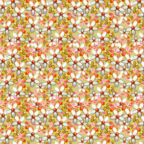 60's Retro Daisy Fabric