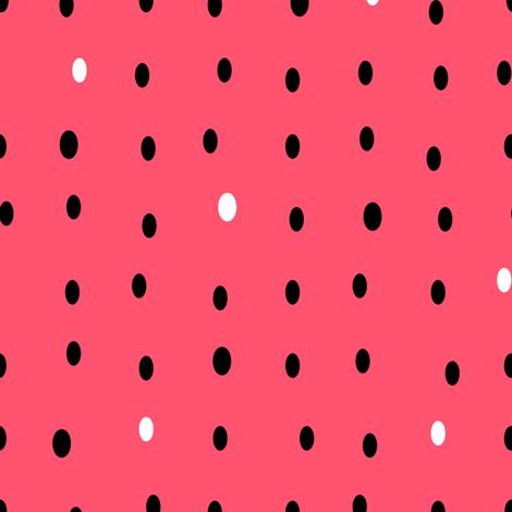 Watermelon Pips (Red) fabric by nekineko on Spoonflower - custom fabric