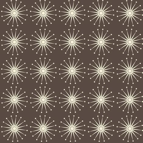 Starspangle (Natural on chocolate) fabric by bippidiiboppidii on Spoonflower - custom fabric