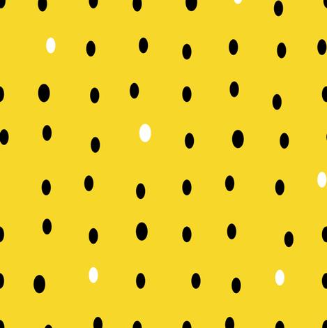Watermelon Pips (Yellow) fabric by nekineko on Spoonflower - custom fabric