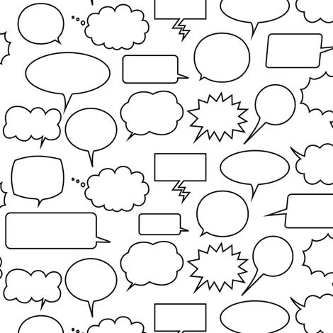 Comic Adventures: Speech Balloons fabric by jazzypatterns on Spoonflower - custom fabric