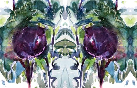 cestlaviv_aubergine fabric by cest_la_viv on Spoonflower - custom fabric