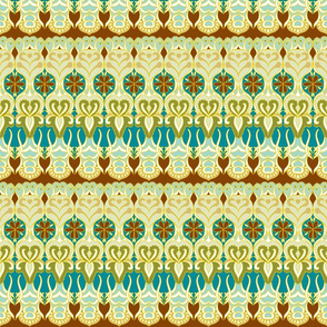 flower_wave_gold_and_chocolate