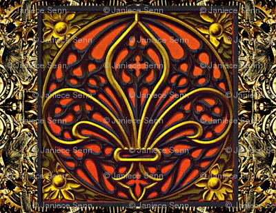Gothic Throw Pillow single panel