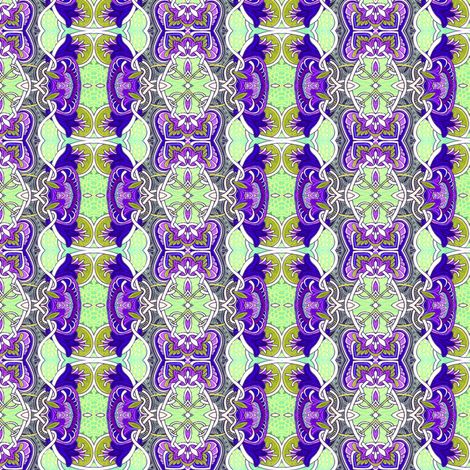 Victorian Design, Psychedelic Colors (vertical stripe) fabric by edsel2084 on Spoonflower - custom fabric