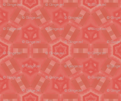 Mango Hexagon Geometric © Gingezel™ 2012