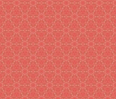 Mango Hexagon Geometric © Gingezel™ 2012 fabric by gingezel on Spoonflower - custom fabric