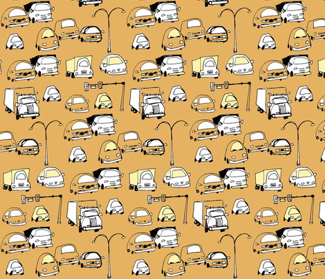 cars fabric by clkstudio on Spoonflower - custom fabric