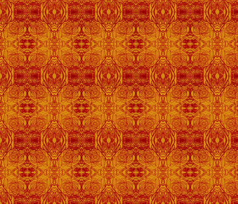 Retro roses fabric by hipfifty on Spoonflower - custom fabric
