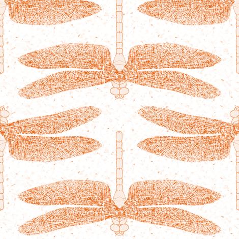 dragonfly orange fabric by keweenawchris on Spoonflower - custom fabric