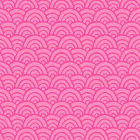 pink kawaii fabric by irrimiri on Spoonflower - custom fabric