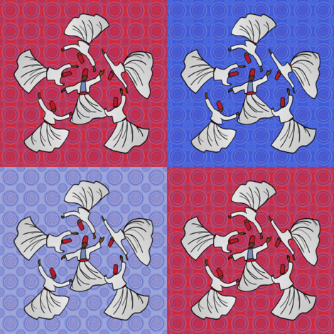 A whirl of dervishes compilation by Su_G fabric by su_g on Spoonflower - custom fabric