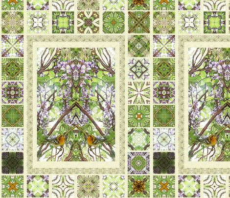 Wisteria - Delft Tiles fabric by wren_leyland on Spoonflower - custom fabric