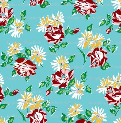 KC floral aqua colorway