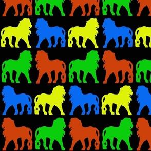ColouredLionsblackbg