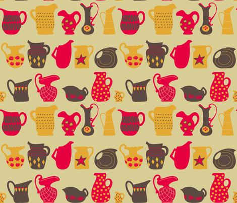 Vintage Pitchers fabric by mongiesama on Spoonflower - custom fabric