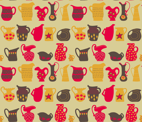 Vintage Pitchers fabric by mongiesama on Spoonflower - custom fabric