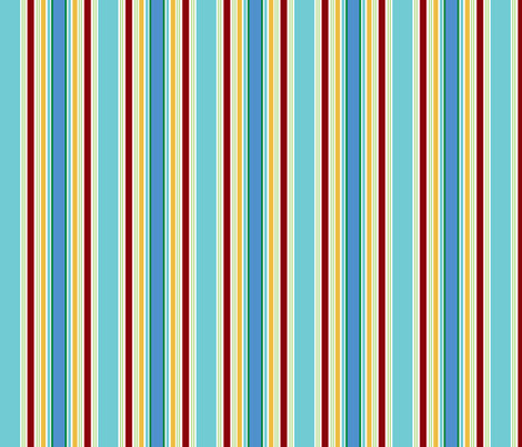 KC stripe aqua fabric by minimiel on Spoonflower - custom fabric