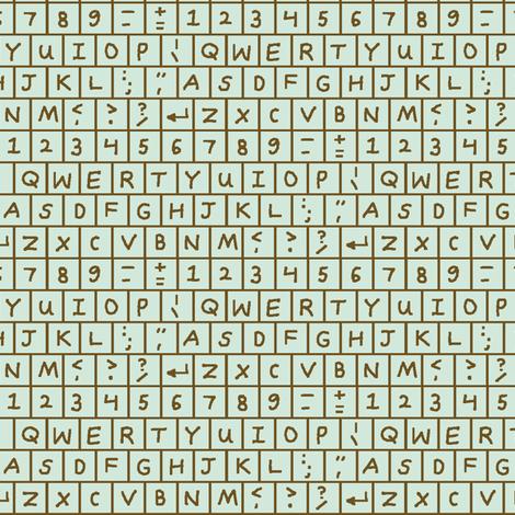 Computer Keyboard - Mint Chocolate Chip fabric by mongiesama on Spoonflower - custom fabric