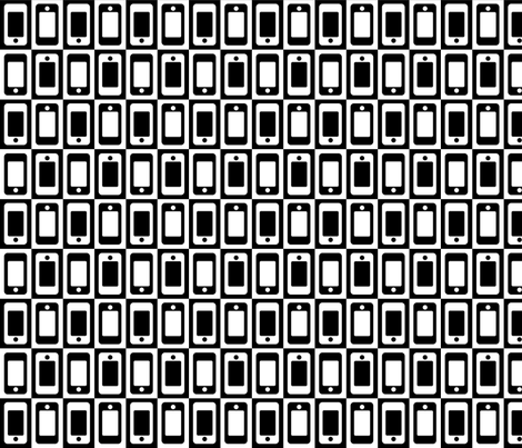 Smartphone Check fabric by mongiesama on Spoonflower - custom fabric