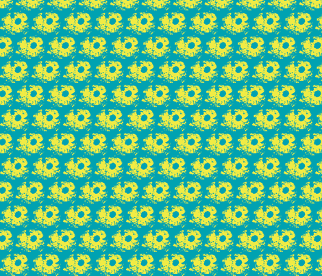 The sunflower by E. van de Craats-ch fabric by _vandecraats on Spoonflower - custom fabric