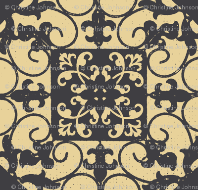 French hen house tile charcoal