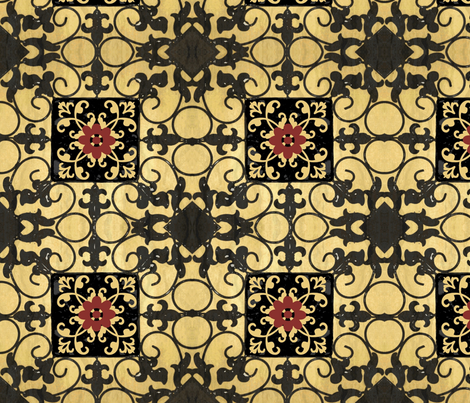 French hen house tile/ multi fabric by paragonstudios on Spoonflower - custom fabric